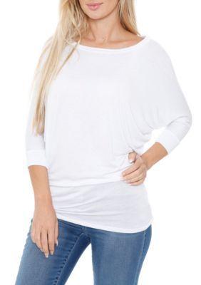 Photo of Maglia manica lunga Dolman fasciata da donna bianca – Bianco – Xl