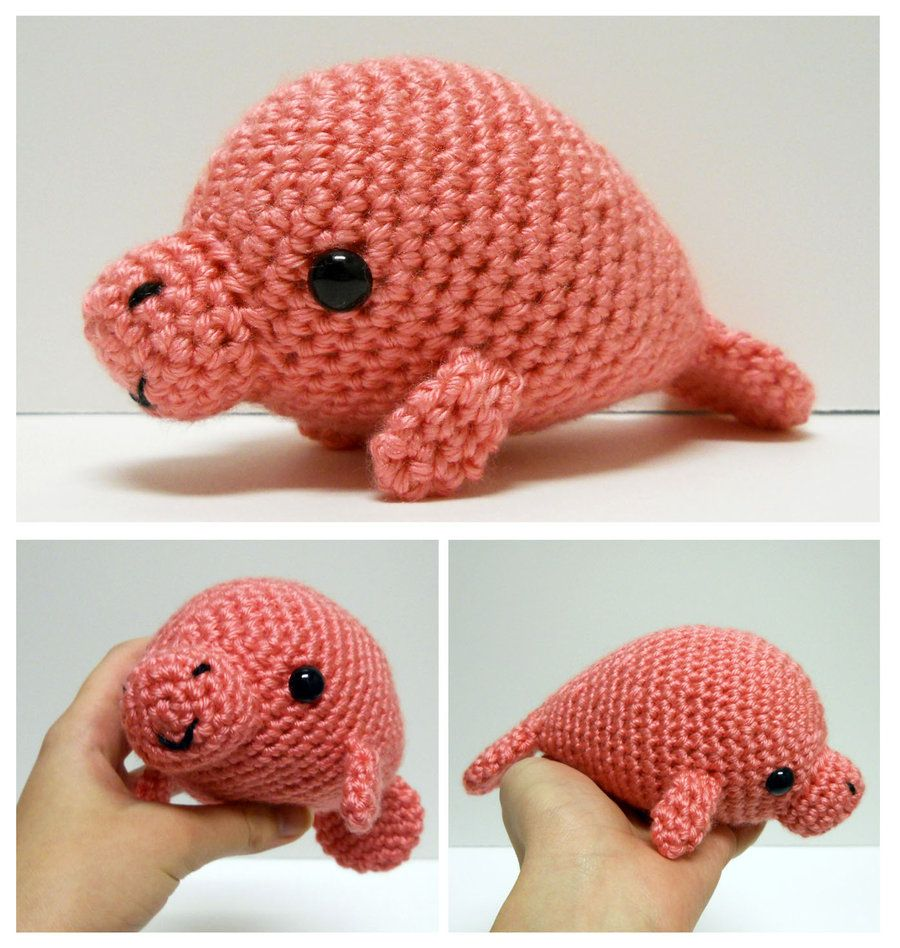 Amigurumi Manatee | Crochet | Pinterest | Manatee, Amigurumi ...