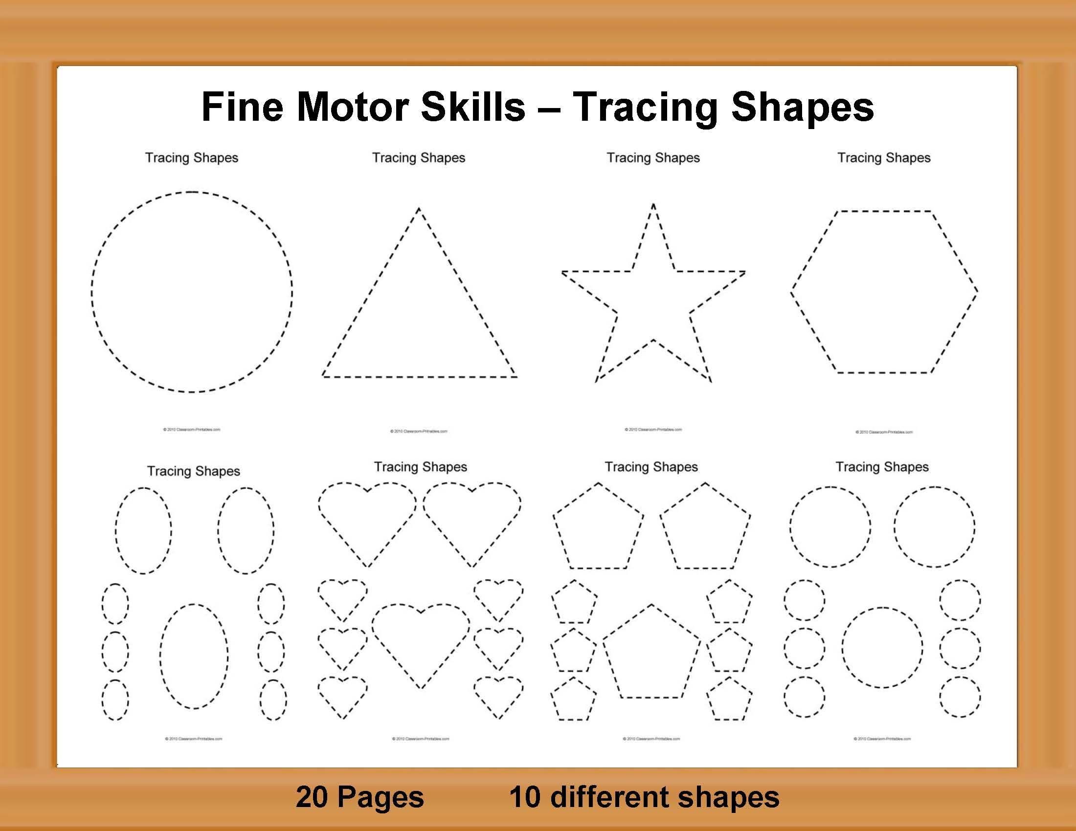 Fine Motor Skills Worksheets In