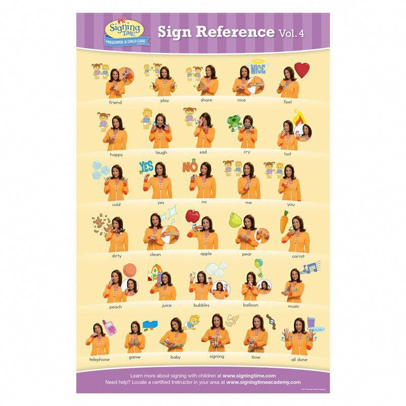 Baby Signing Time Chart 4 | Baby Signing Time ...