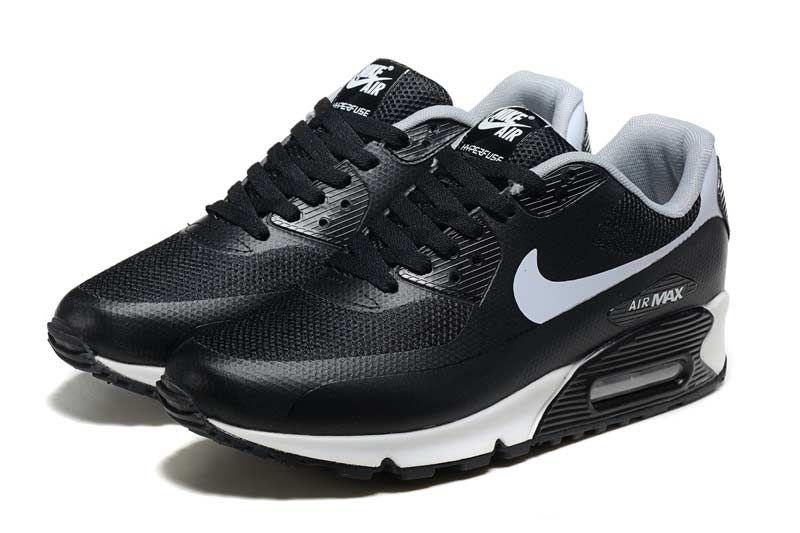 check out 58c35 44e32 Nike Air Max 90 Zapatos De Hombre Blanco Negro 3067