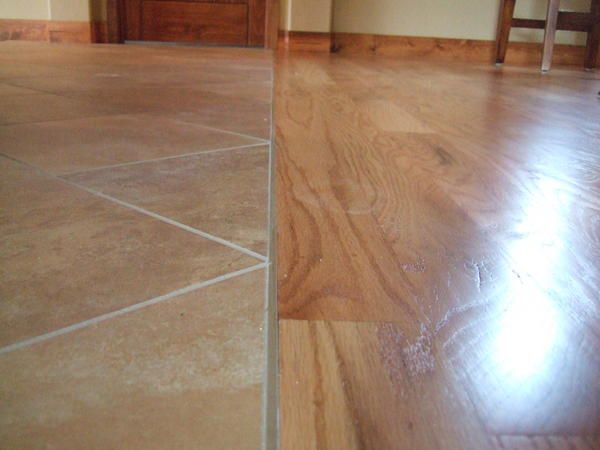 Tile To Hardwood Transition Q Ceramic Tile Advice Forums John Bridge Ceram Tile To Wood Transition Kitchen Floor Tile Patterns Installing Laminate Flooring