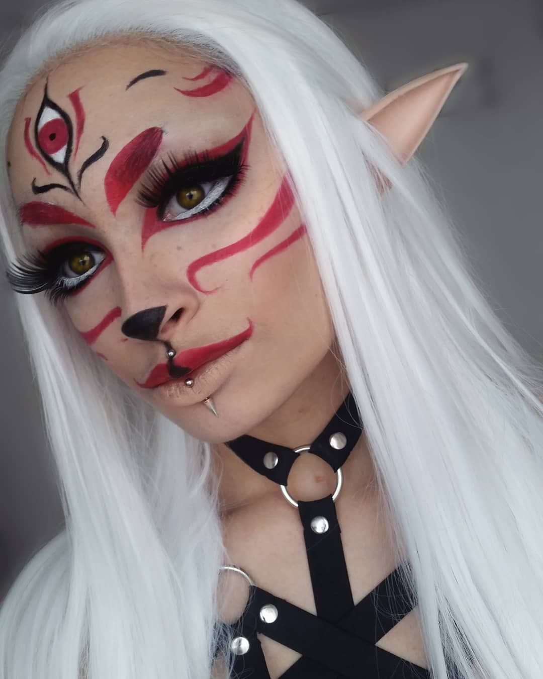 1 616 Likes 30 Comments Gigi Myra Diana Gigimyradiana On Instagram Here S A Lil Kitsun Cosplay Makeup Halloween Makeup Looks Fantasy Makeup