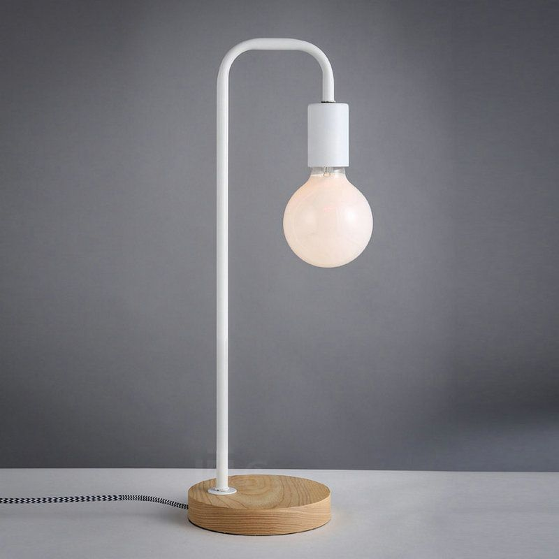 Nordic Home Modern Simple Table Lamp Study Room Bed Room Lamp Japanese Style Table Lamp With Led Bulbs F Metal Table Lamps Table Lamp Scandinavian Table Lamps