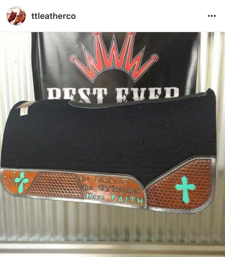 Custom western saddle pad, #besteverpads by tlleatherco | Western