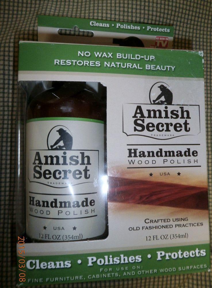 New Amish Secret Handmade Wood Polish 12 Oz Polishes Protection Clean Wood Polish