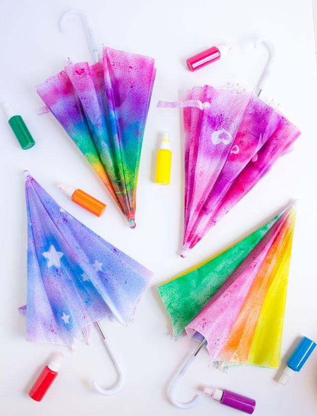 Kids Craft Week Spray Painted Umbrellas Camp Fun At Home