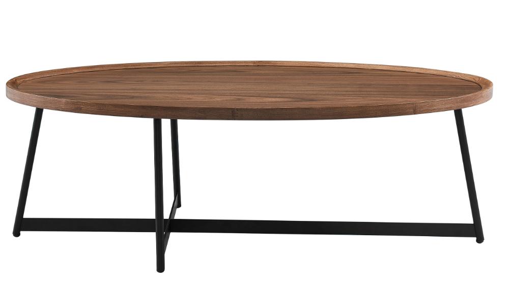 Gweneth Oval Coffee Table Walnut Coffee Table Oval Coffee