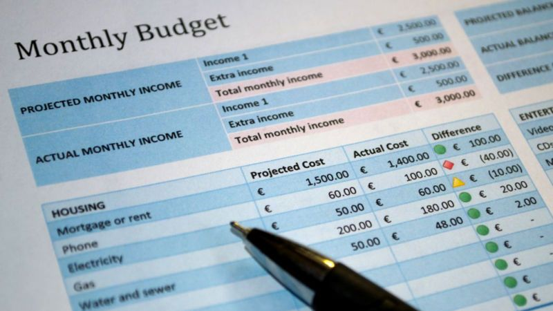 Give Your Budget a Break With No Spend November Budgeting - business monthly expenses spreadsheet