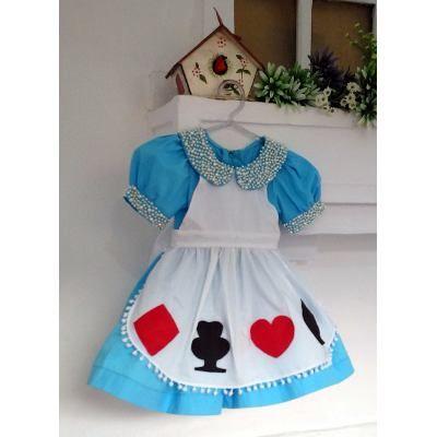 Fantasia Infantil Alice No Pais Das Maravilhas Mod Com