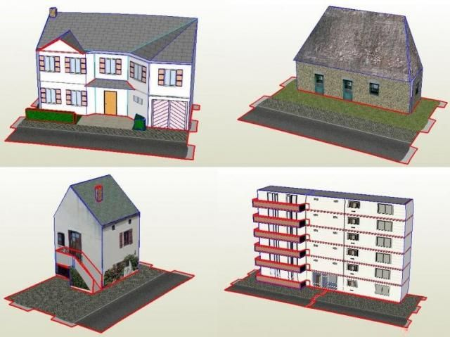 Toy Model Buildings : A lot of new buildings paper models in scale by
