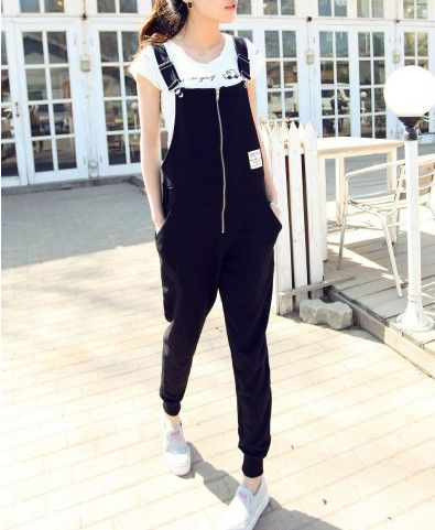 Black Harem Dungarees. Please stop trying to bring this back.