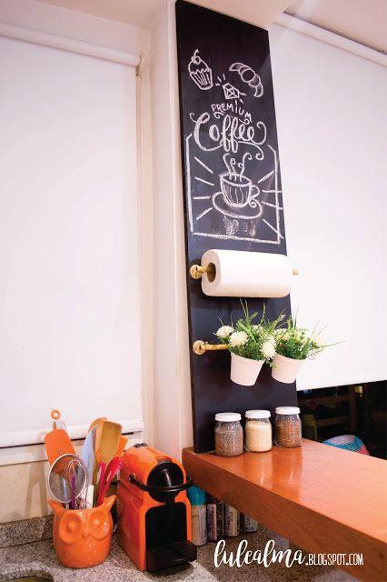 DIY PIZARRA EN LA COCINA Cocinas Pinterest Small apartments - Imagenes De Cocinas