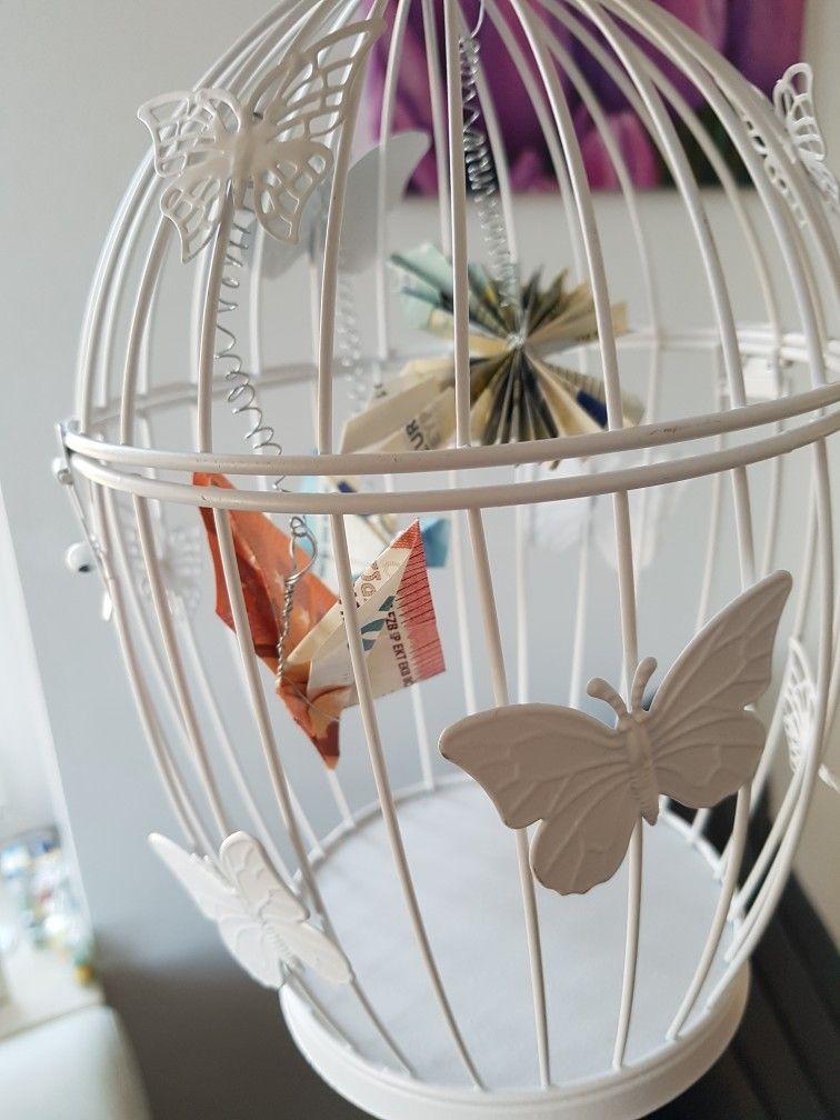 Geldgeschenk Origami Schmetterlinge aus Geldscheinen in