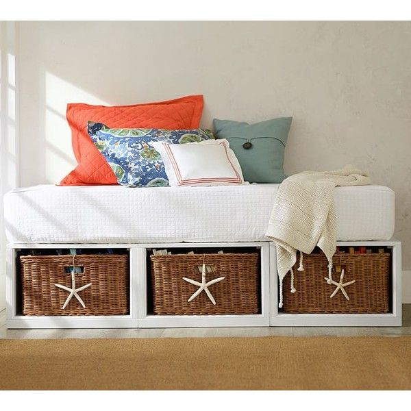 Pottery Barn Stratton Storage Platform Daybed with Baskets (£195 ...