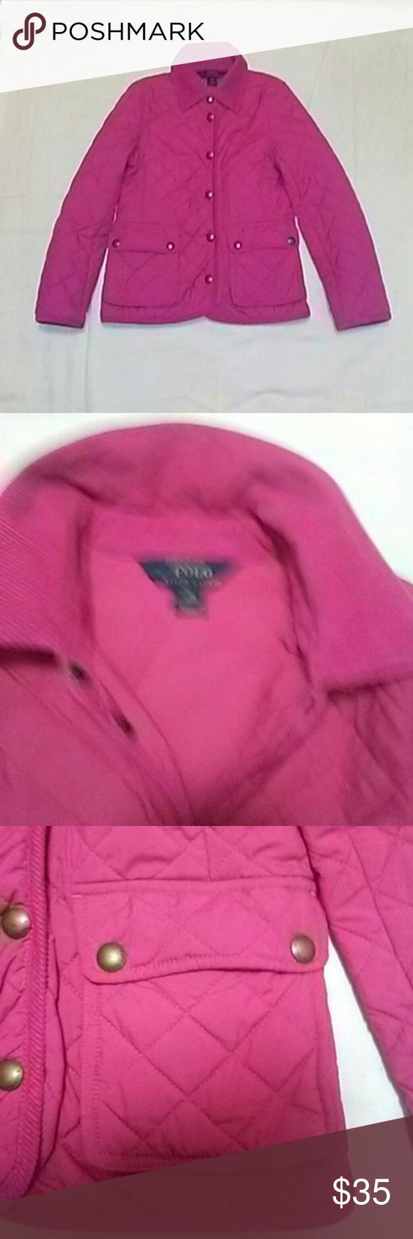 9da0c404c Polo Ralph Lauren Girl quilted jacket. Size 8-10