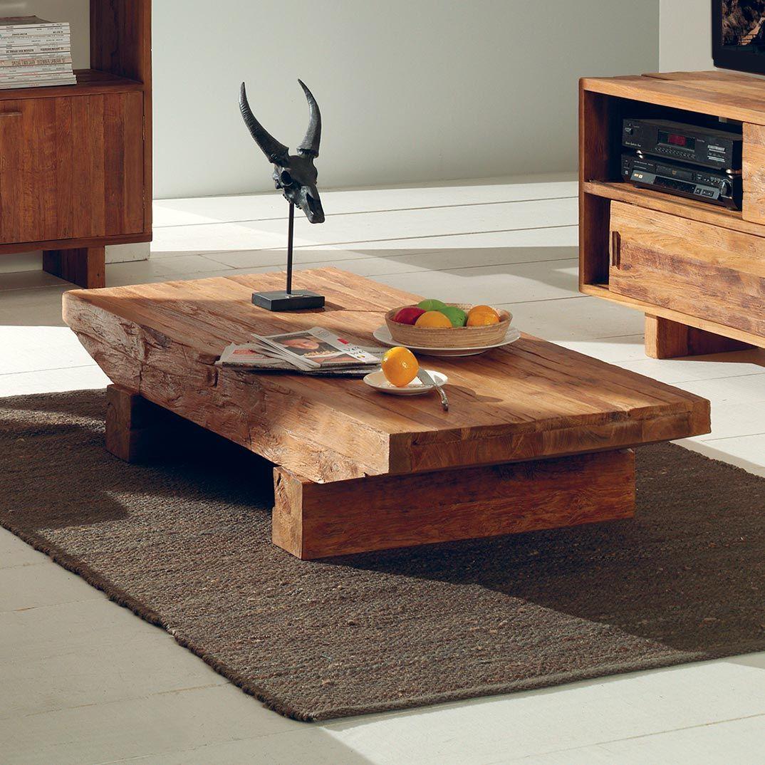 table basse en teck recycl living room pinterest. Black Bedroom Furniture Sets. Home Design Ideas