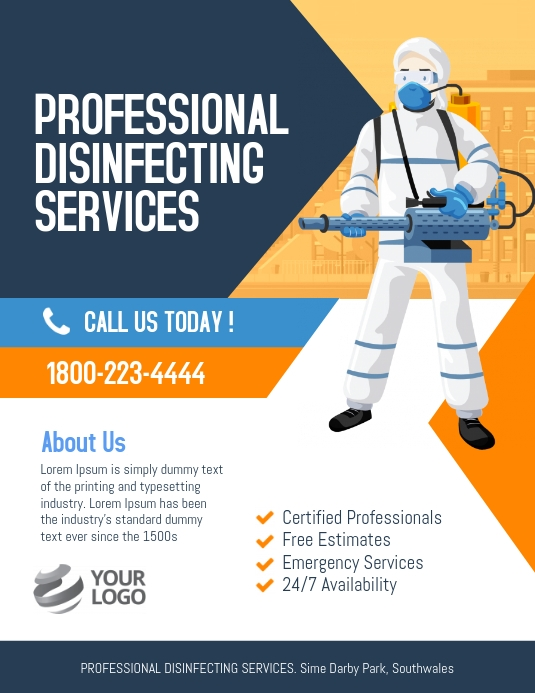 Professional Disinfecting Services PosterMyWall in 2020