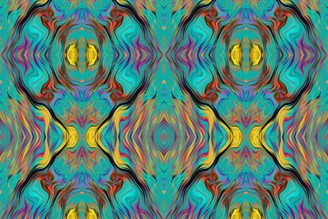 Colorful Fabrics Digitally Printed By Spoonflower Medium Lava Lamp Emerald Teal Fusion 1 Art