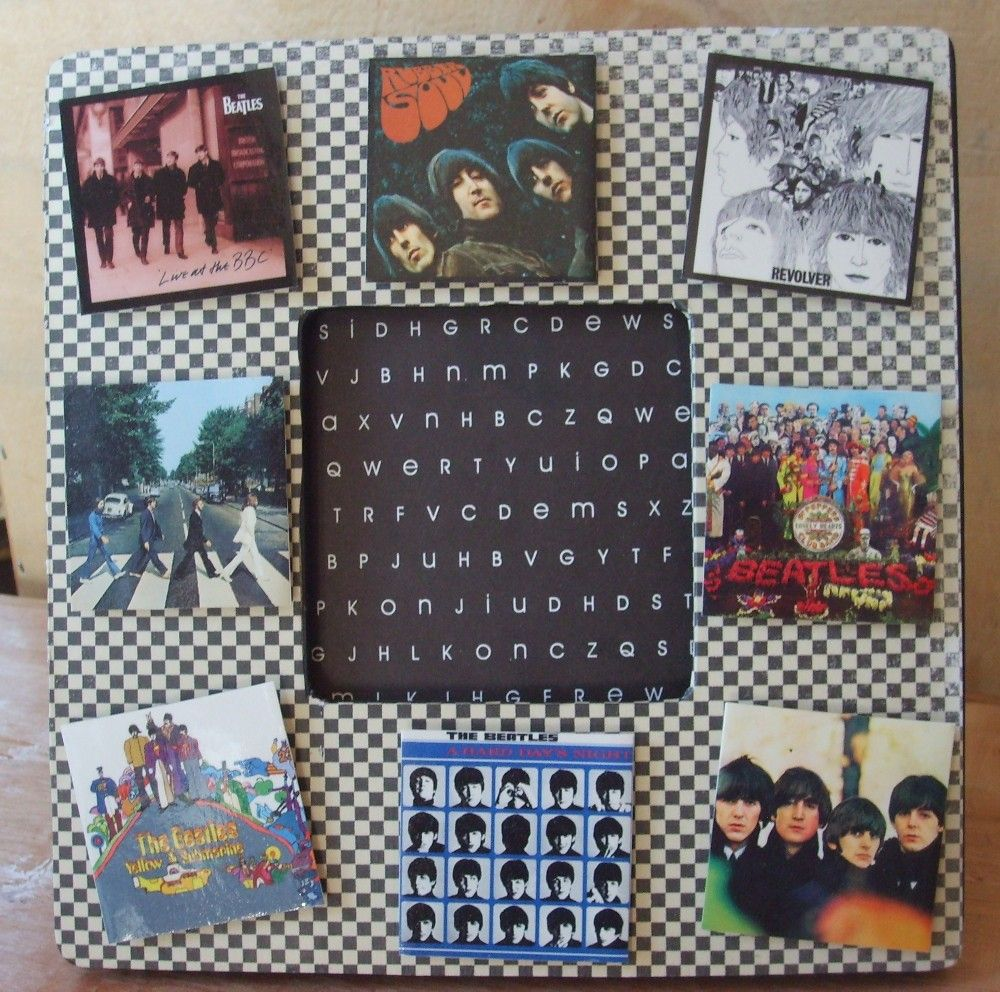 The Beatles Record Covers Decoupaged Picture Frame | Pinterest