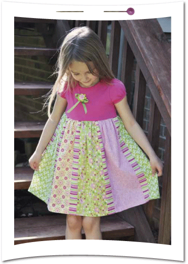 cf985c235 5 fat quarters + 1 t-shirt   this adorable little girl s dress ...