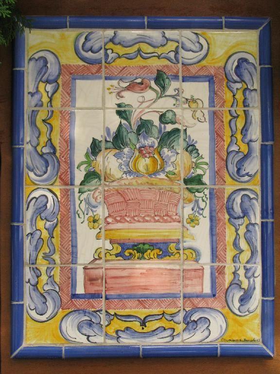 D cor fresque c ramiques du beaujolais fa ences et - Fresque carrelage mural ...