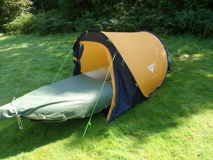Photo of inflatable kayak camping