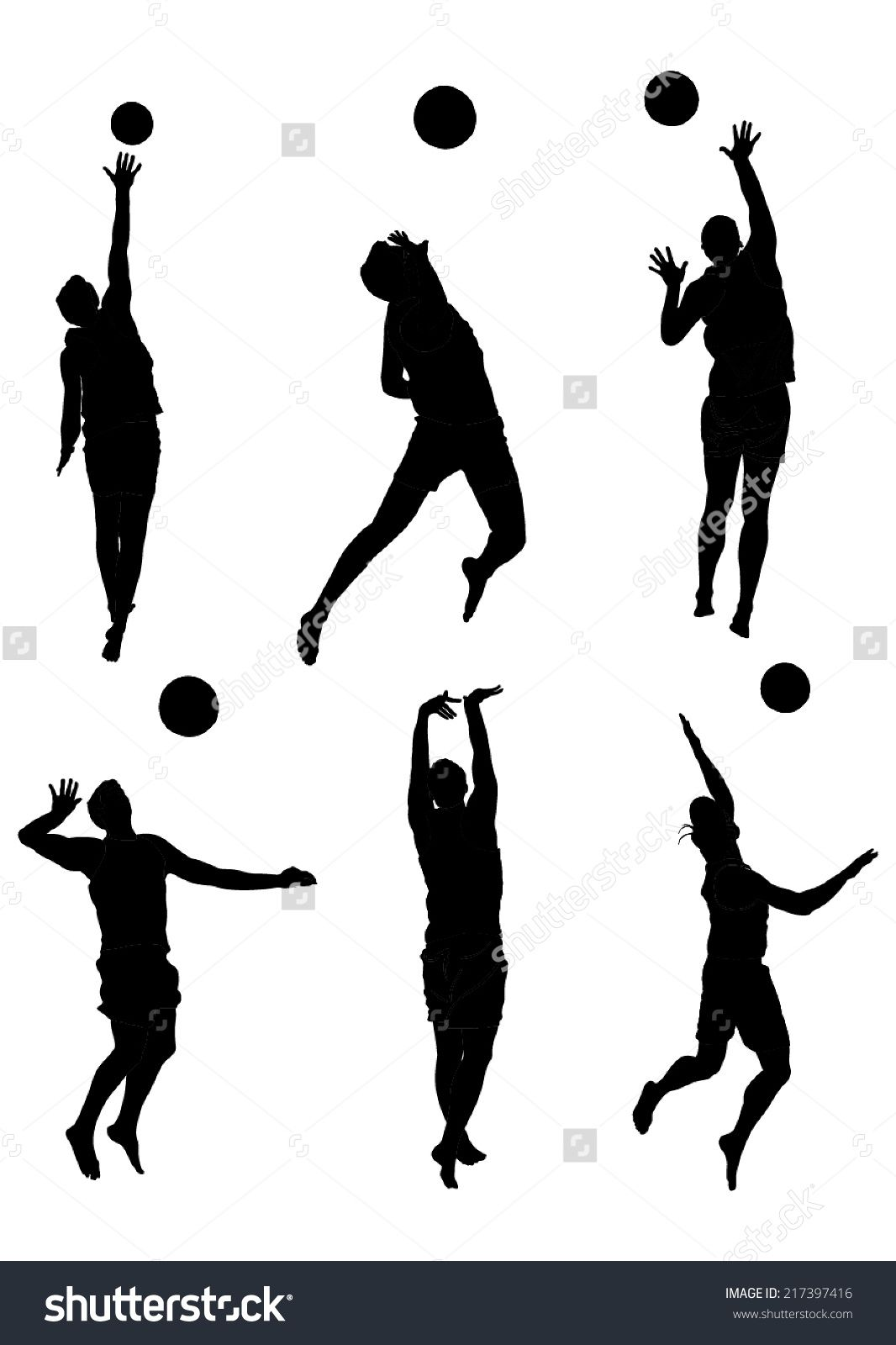 Beach Volleyball Players Vector Silhouette Isolated On White Background Beach Volleyball Vector S Beach Volleyball Volleyball Players Silhouette Illustration