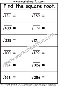 Square Root – 1 Worksheet | Squares & Square Roots | Pinterest ...