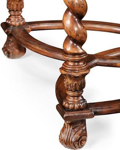 Side Table JONATHAN CHARLES WINDSOR Reproduction Openwork Base Barley Tw JC-1985