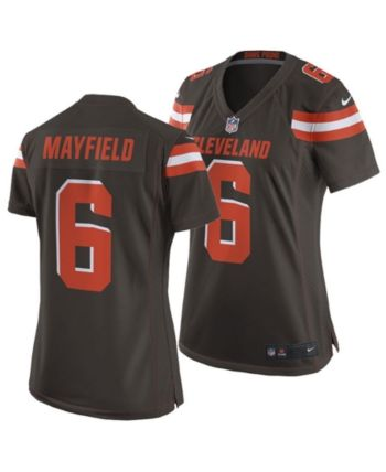 ab9c6ad6 Nike Women's Baker Mayfield Cleveland Browns Game Jersey - Brown M ...