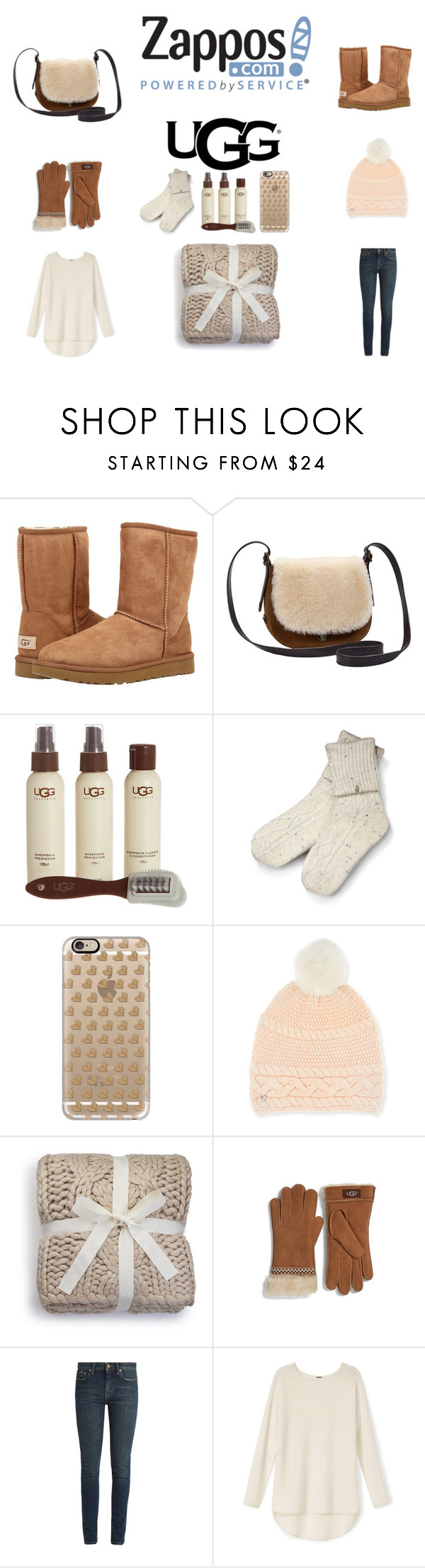 """The Icon Perfected: UGG Classic II Contest Entry"" by katelyn-style ❤ liked on Polyvore featuring UGG Australia, UGG, Casetify, Yves Saint Laurent, ugg and contestentry"