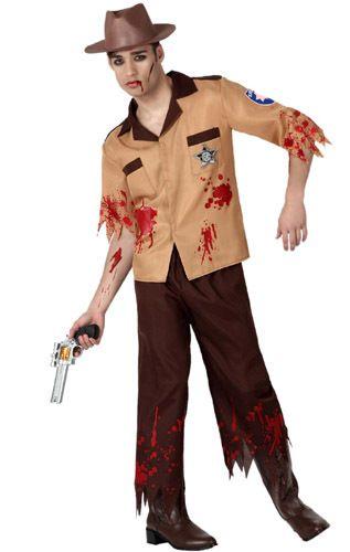 Disfraz de Policía Walking Dead adulto  fa0963a04946