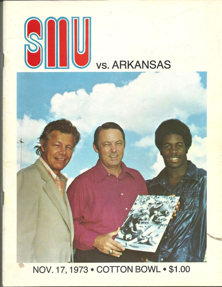 1973 Arkansas Razorbacks V SMU Mustangs Original Football Program ArkansasRazorbacks