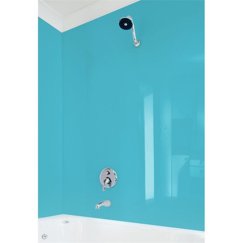 Bathroom panel high gloss acrylic sky 2440x1000x4mm i n 4890437 bunnings