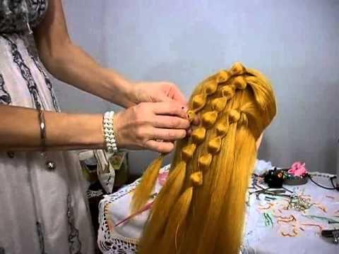 Penteado jovial usando bolinhas de isopor - Cute hairstyle using Styrofoam balls - YouTube