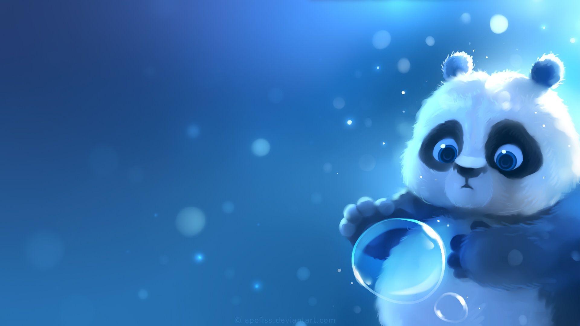 обои на рабочий стол панда мультяшные сделать лицо выразительным