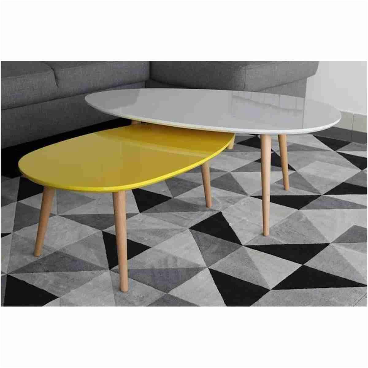 8 Ideal Table Basse Gigogne Blanche Di 2020 Minimalis