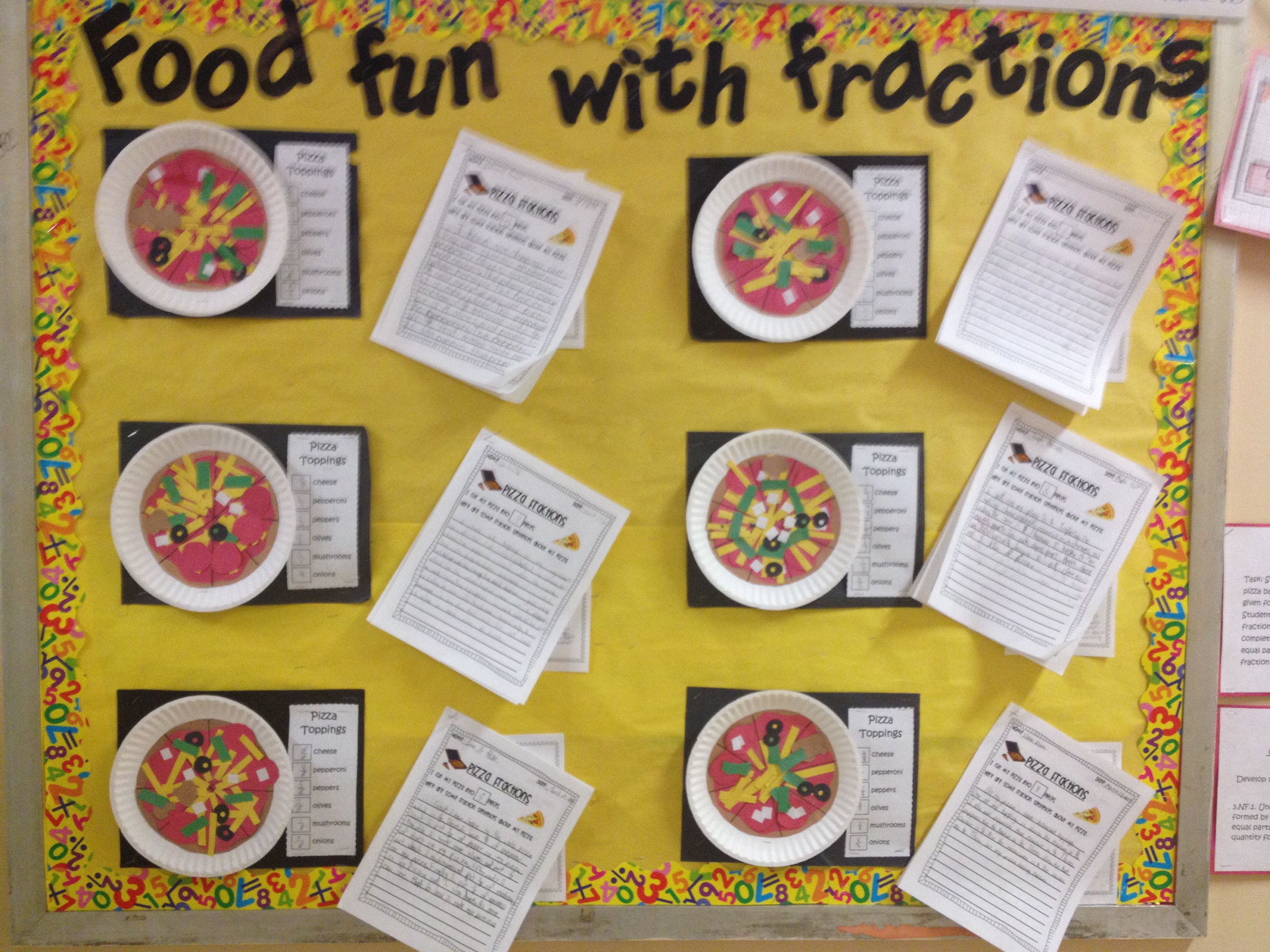Food Fun With Fractions Fraction Pizzas With Fractional