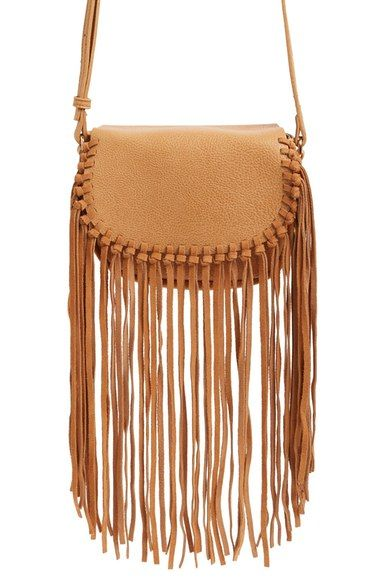 Fringe Faux Leather Crossbody Bag