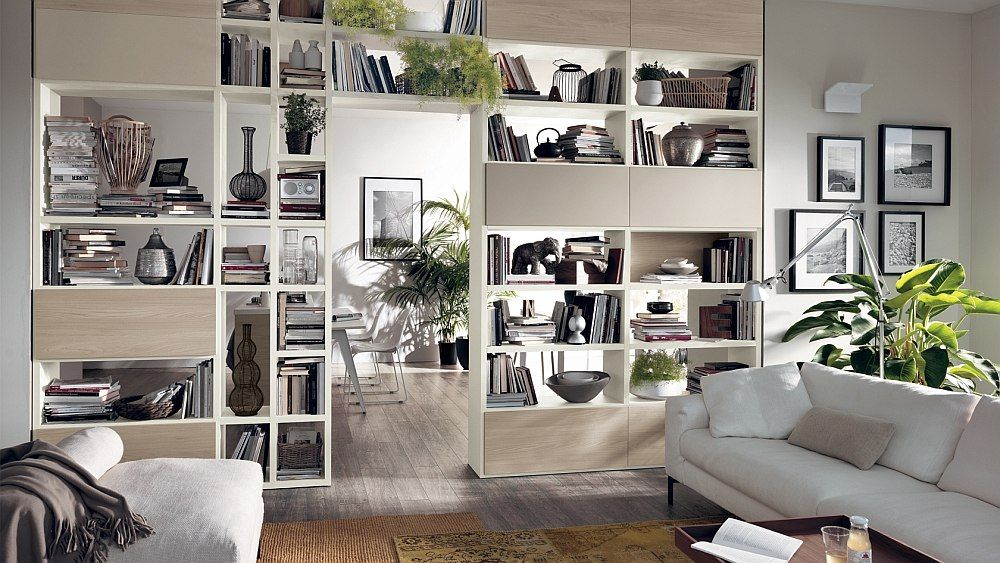 12 Dynamic Living Room Compositions With Versatile Wall Unit