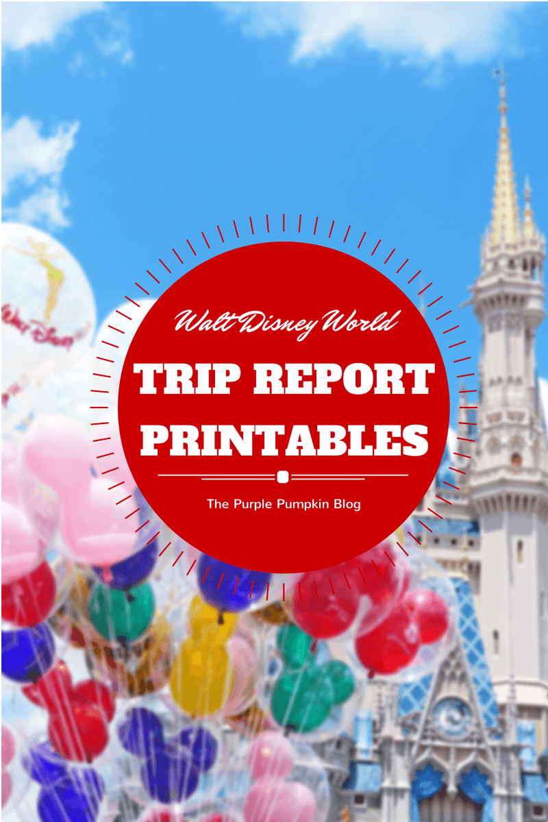 Walt Disney World Trip Report Free Printables  Disney Bound