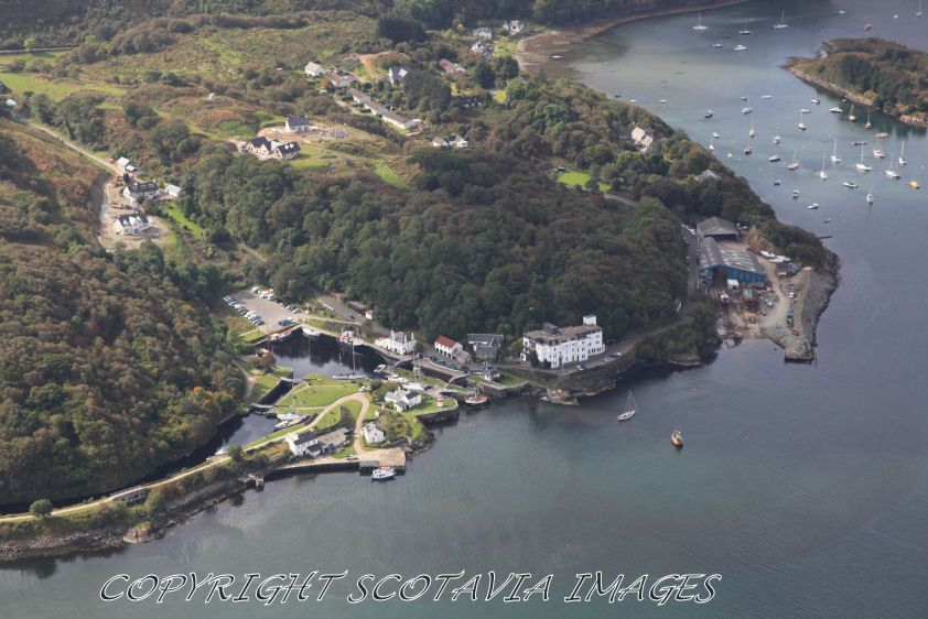 Crinan,where the canal meets the sea.Aerial photograph Scotland.Prints 18x12 £25 24x16 £35 same size on canvas ready to hang £60. Order via website www.scotaviaimages.co.uk