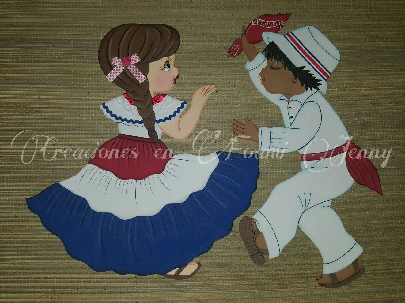 Pareja 2 Mexican Doll Country Crafts Mural