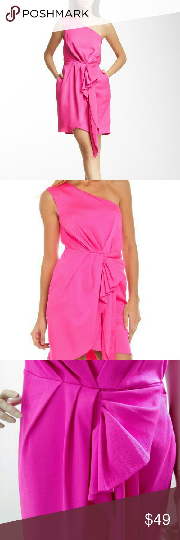 Bcbgeberation pink sheath dresses hot pink and hooks