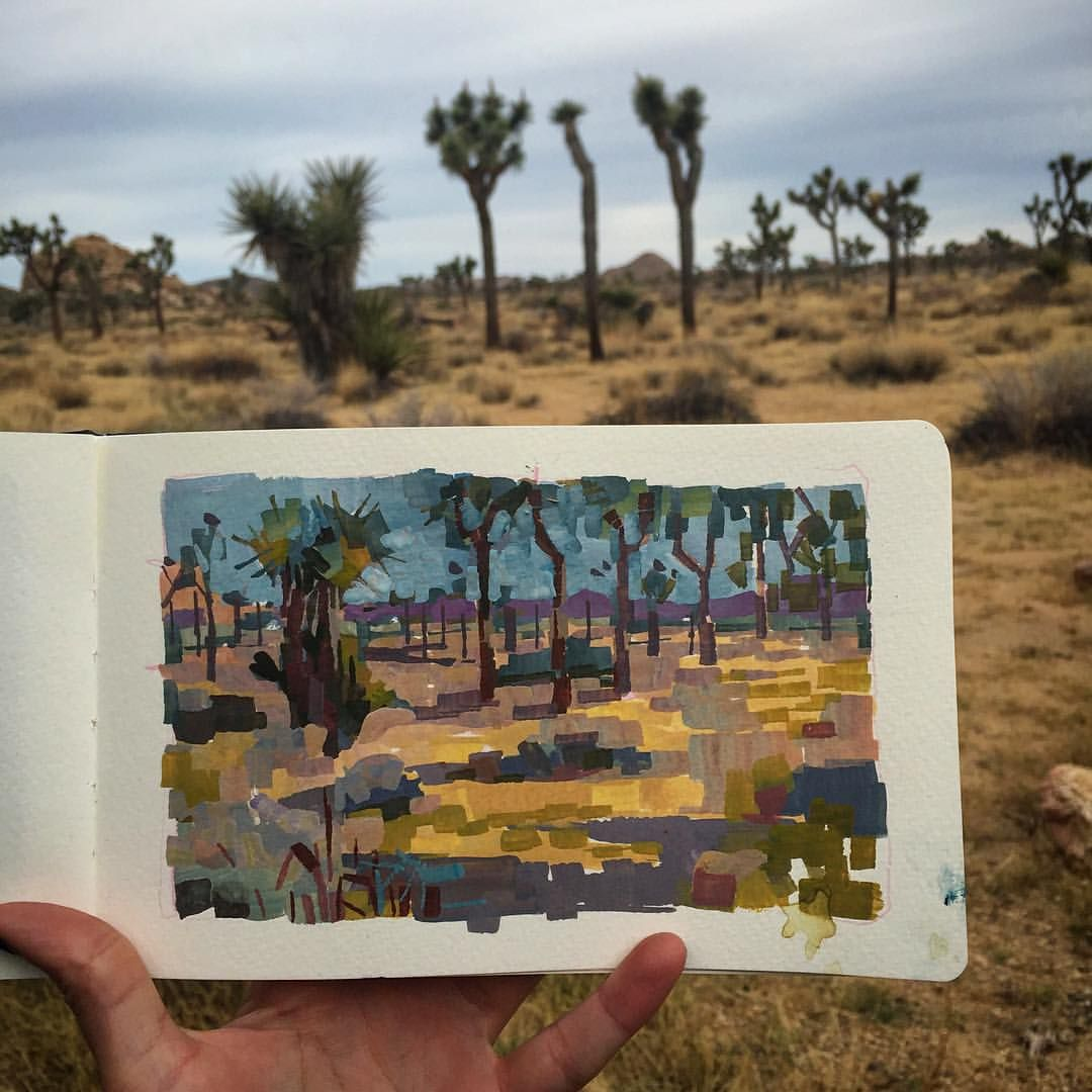 ⛺️ Living the life in Joshua Tree. #painting... - Kristy Kay