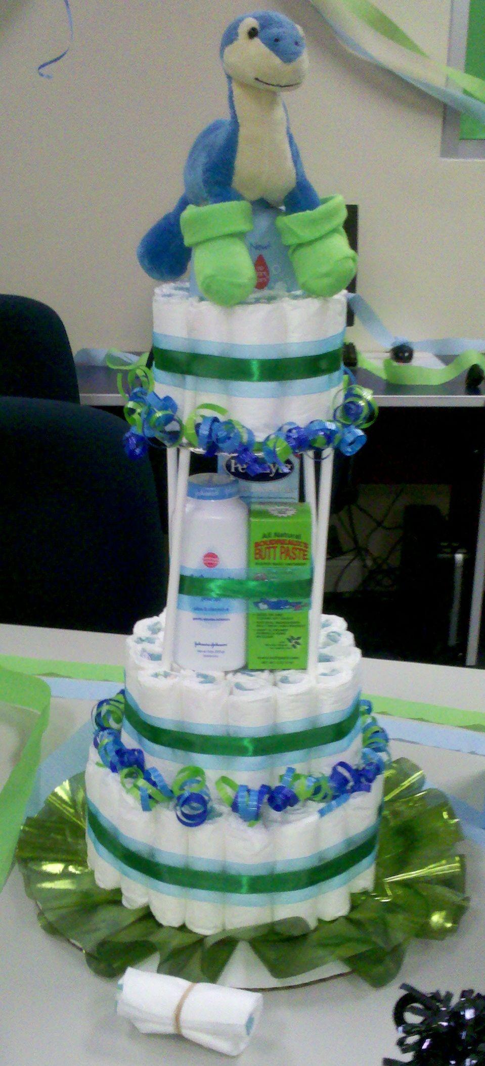 Dinosaur Diaper Cake Brookes Shower Baby Shower