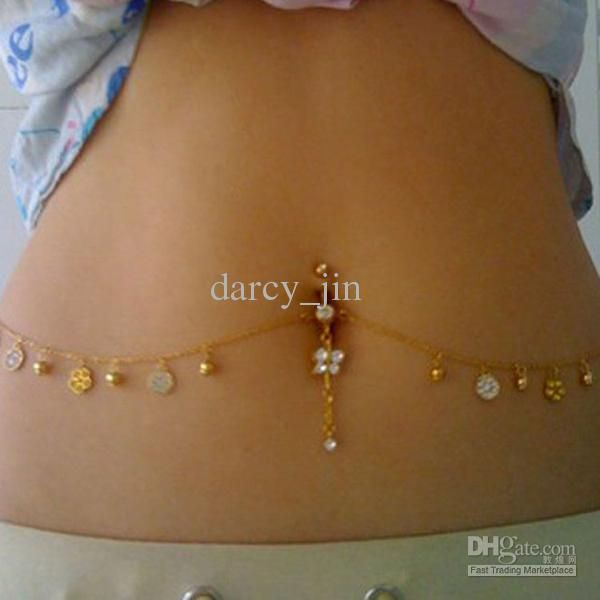 Belly Ring With A Waist Pendants