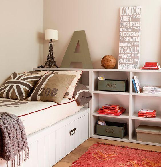 Un cuarto juvenil pensado al milímetro   Dormitorios   Pinterest ...