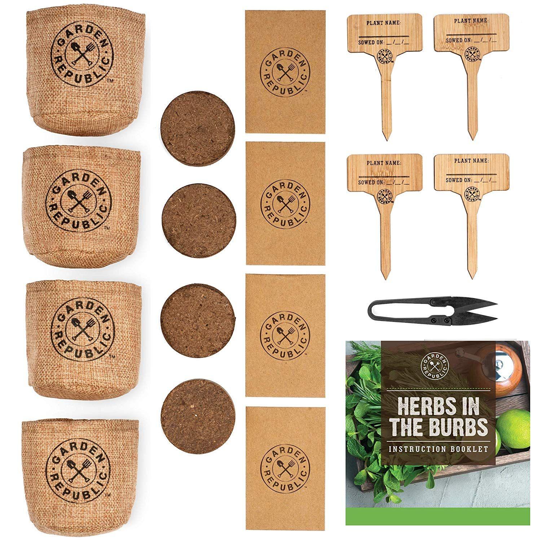 Indoor Herb Garden Starter Kit Organic, Non